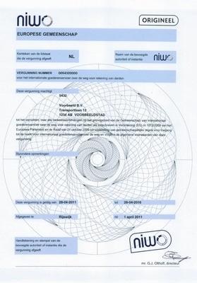 eurovergunning specimen