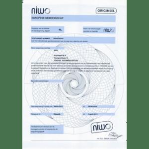 Eurovergunning of NIWO vergunning